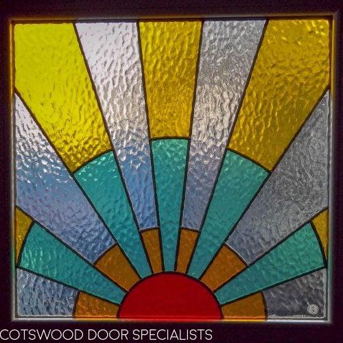 Pleasant 1920S Front Door With Art Deco Sunrise Leaded Glass Door Handles Collection Olytizonderlifede