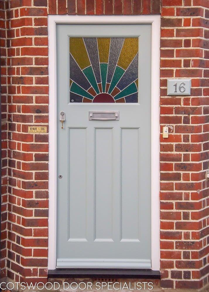 Prime 1920S Front Door With Art Deco Sunrise Leaded Glass Door Handles Collection Olytizonderlifede