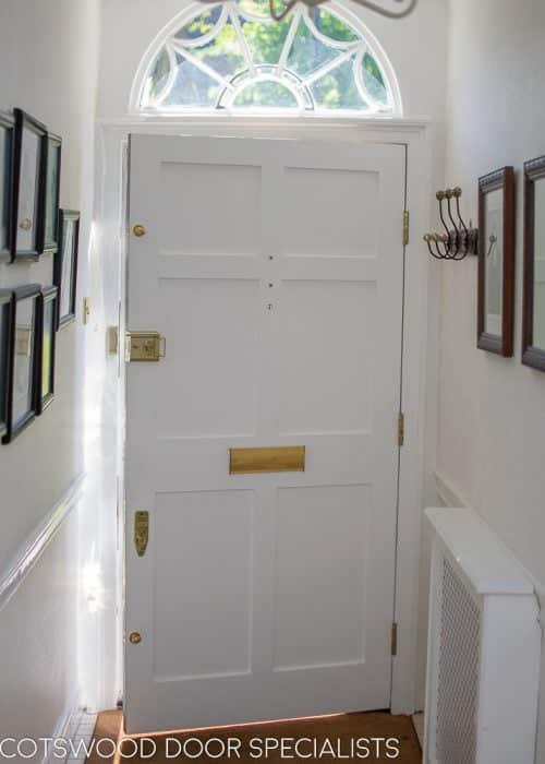 Georgian door and fanlight frame
