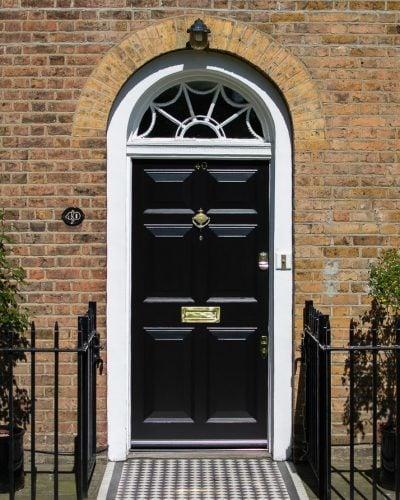 Georgian door and fanlight frame