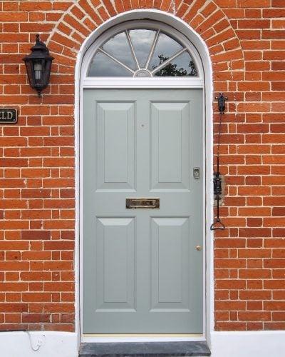 Georgian four panel front door and fanlight frame