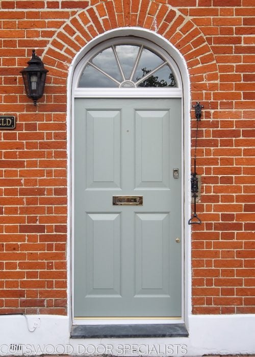 Georgian four panel front door and fanlight frame