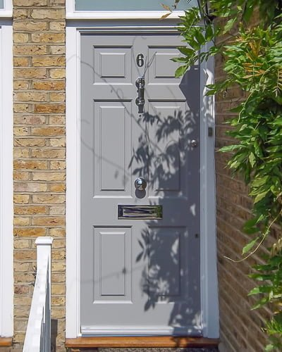 light grey Georgian door