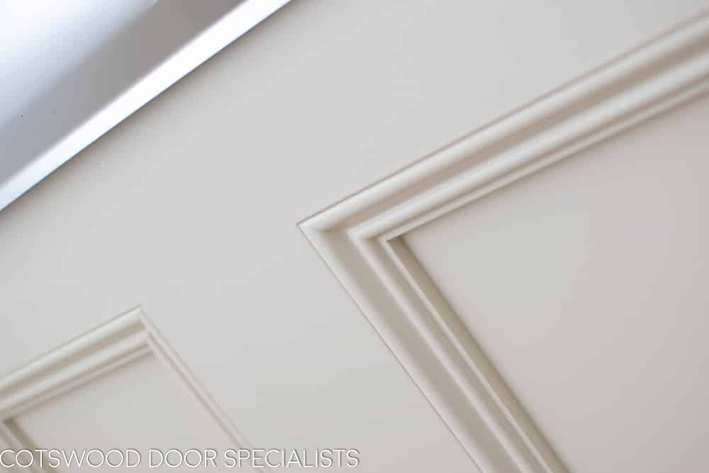 Victorian internal door moulding. Painted off white