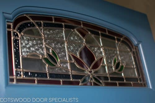 Stained glass to victorian door