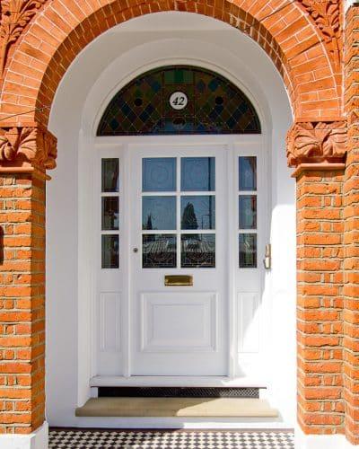 Large Edwardian front door t